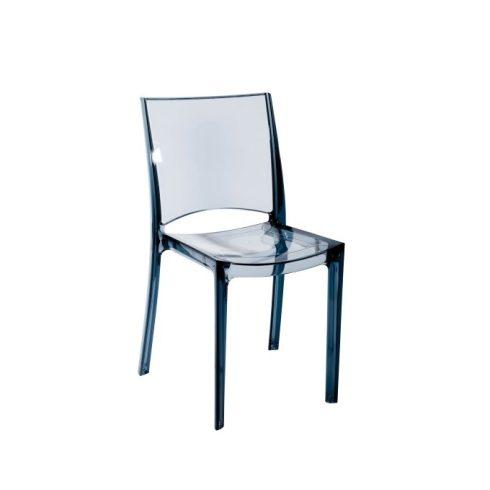 B-oldalas füstölt polikarbonát szék