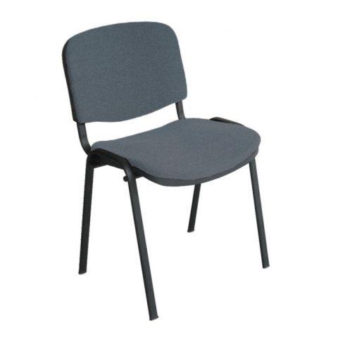 Konferencia szék, szürke, ISO NEW