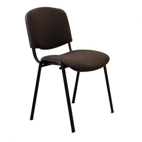 Konferencia szék, barna, ISO NEW