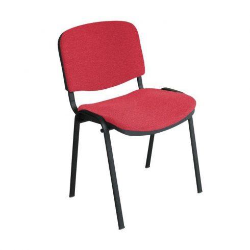 Konferencia szék, piros, ISO NEW